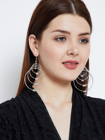 Swirled Hoops Designer Earrings
