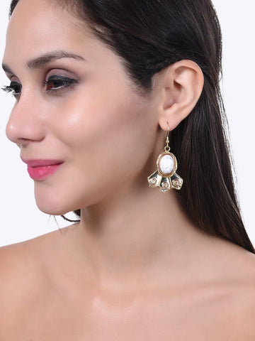 White Howlite Precious Earrings