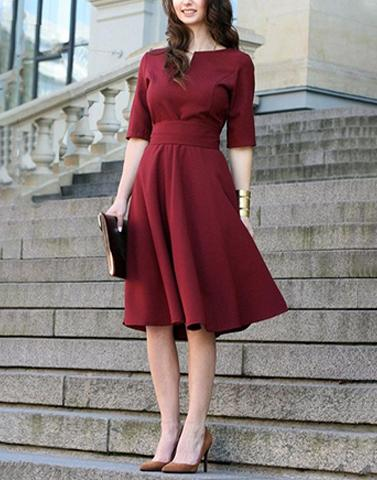 Magically Maroon Statement Dress