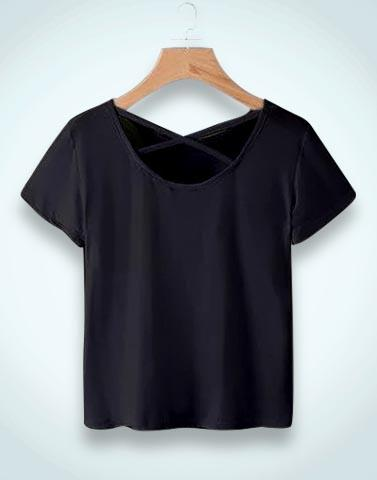 Simply Black Solid T-Shirt