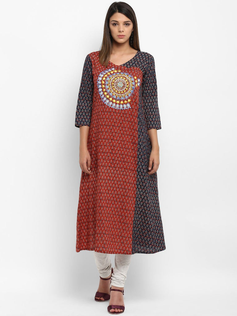 Beautiful Ethnic Wear Cotton Designer Long Kurtas