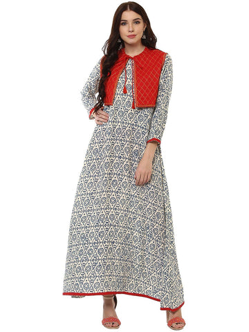 Rayon Embroidered Work Anarkali kurtas