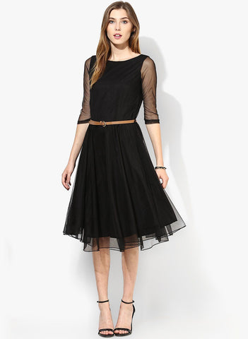 Black Net Black Dress
