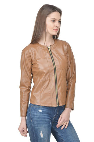 Raabta Beige Full Leather Jacket
