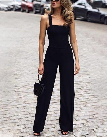 Cool And Classy Black Jumpsuit