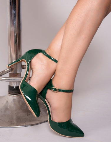 Fancy Emerald Green Heels