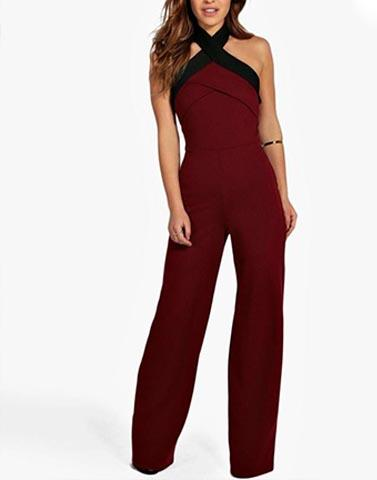 Sophisticated Maroon Classic Jumpsuit