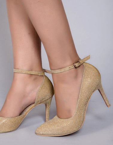 Gold Glam Heels