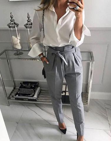 Meeting Done Right Dull Grey Trousers