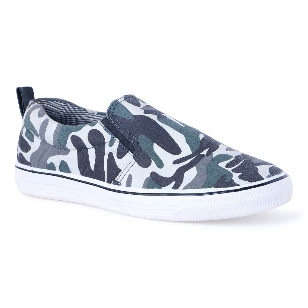 Army Print Laceless Sneakers