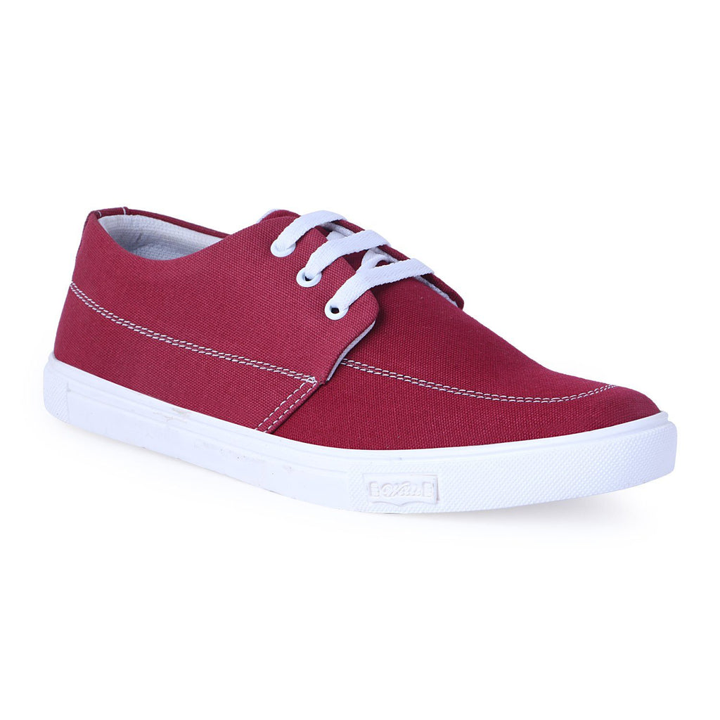 Canvas Red Casual shoes