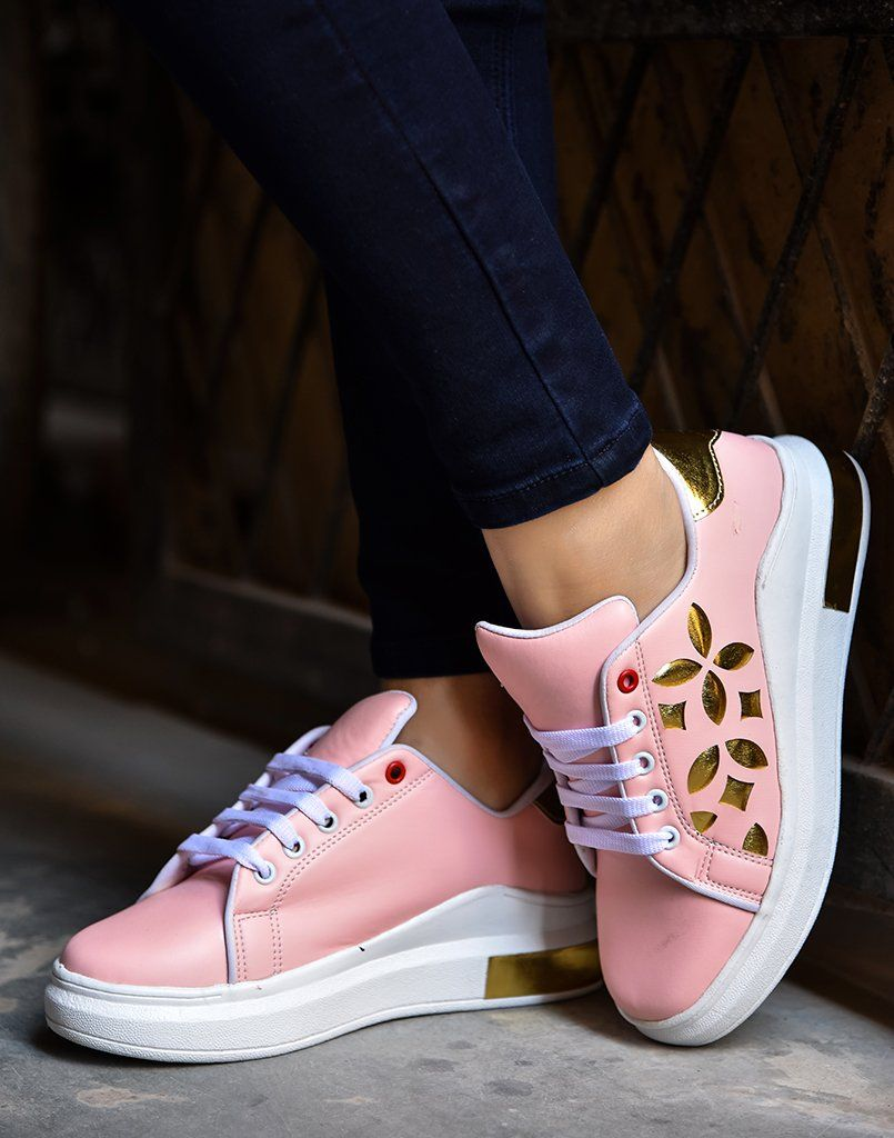 Lazer Gold Pink Sneakers