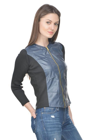 Raabta Nevy With Black Rib Jacket