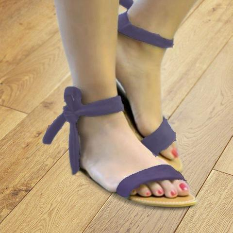 Ankle Ribbon Flat