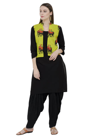Rishaga Straight Kurta With Jacket