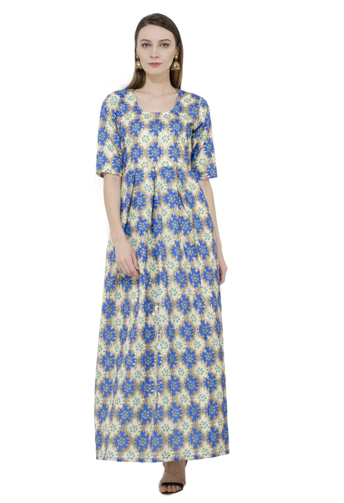 Rishaga Banglori Raw Silk Flared Kurta