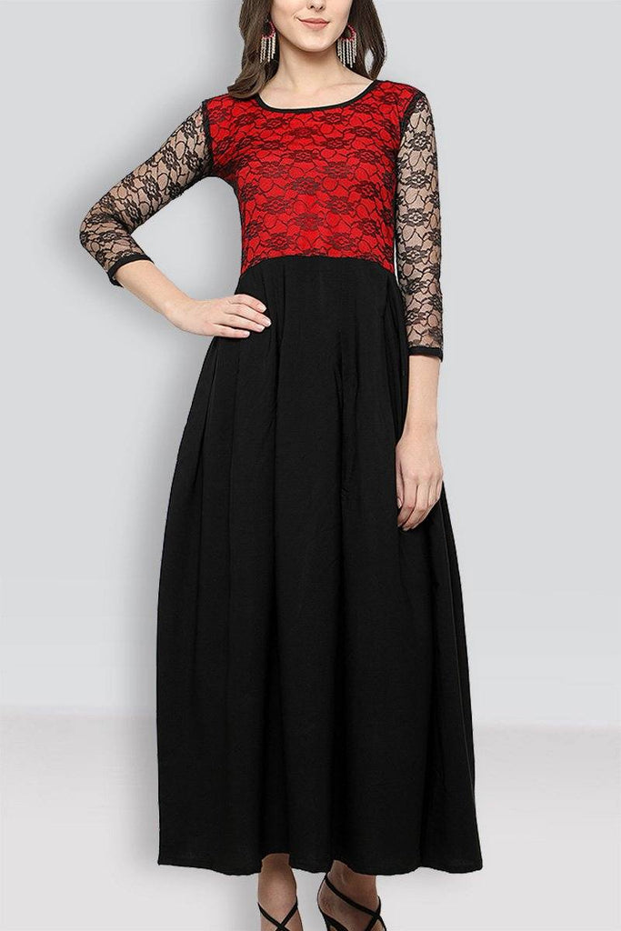 Black Colored  Maxi Dress