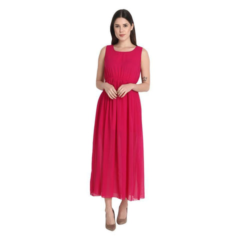 Rani Pink Monika Long Dress