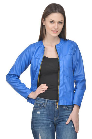 Raabta Royal Blue Full Leather Jacket