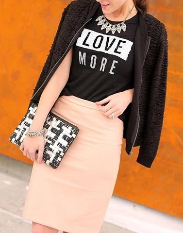 Love More Black Graphic Tee