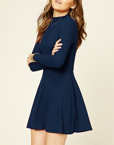 Posh Navy Blue Sundress