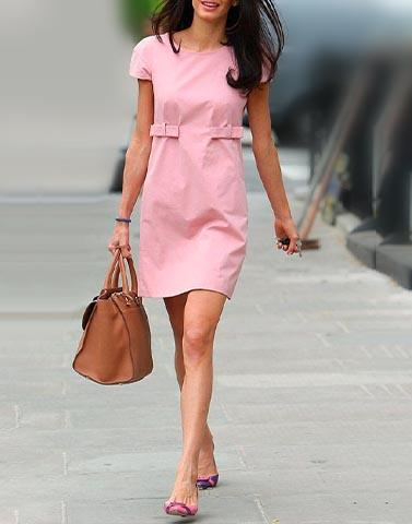 Pretty Pink Shift Dress