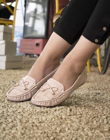 Blissful Bows Pink Moccasin Sneakers
