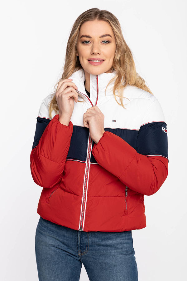 #00022  Tommy Jeans Jacke Jackets DW0DW08846-C87 WHITE/RED/NAVY
