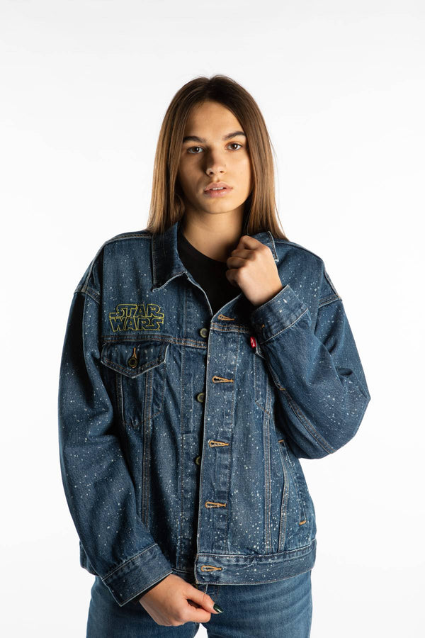#00042  Levi's Jacke STAR WARS DAD TRUCKER 0009 MAY THE FORCE BE WITH YOU