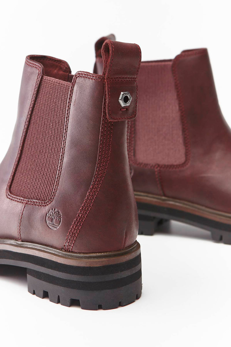 #00008  Timberland High-Top Schuhe LONDON SQUARE CHELSEA C60 BURGUNDY FULL-GRAIN