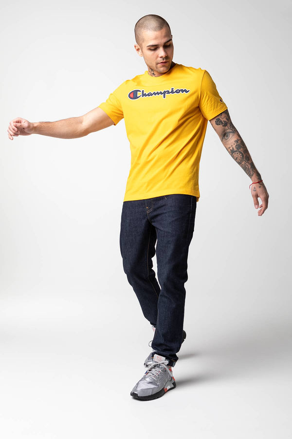 #00004  Champion T-Shirt CREWNECK T-SHIRT YS022 YELLOW