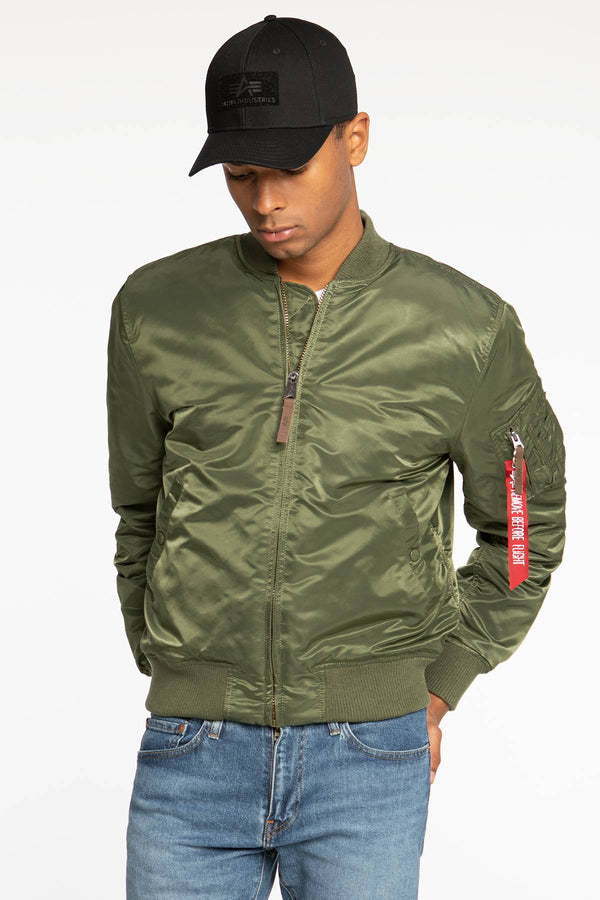 #00002  Alpha Industries Jacke Ma-1 VF 59 118 SAGE GREEN