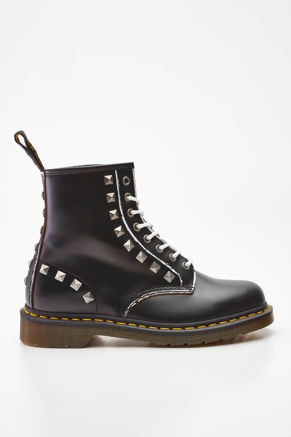 #00040  Dr.Martens High-Top Schuhe 1460 STUD BLACK ROLLED VINTAGE SMOOTH