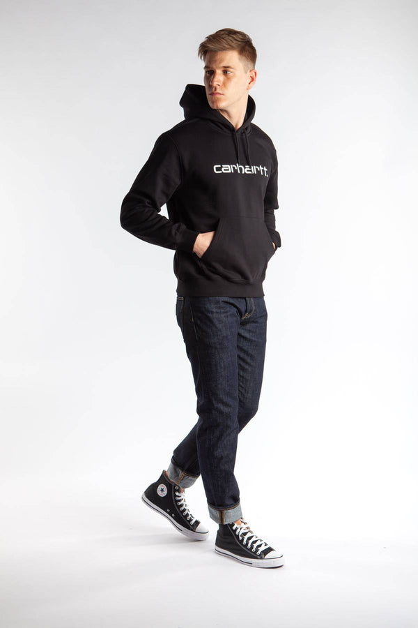 #00001  Carhartt WIP Bluse HOODED SWEAT 8990 BLACK/WHITE