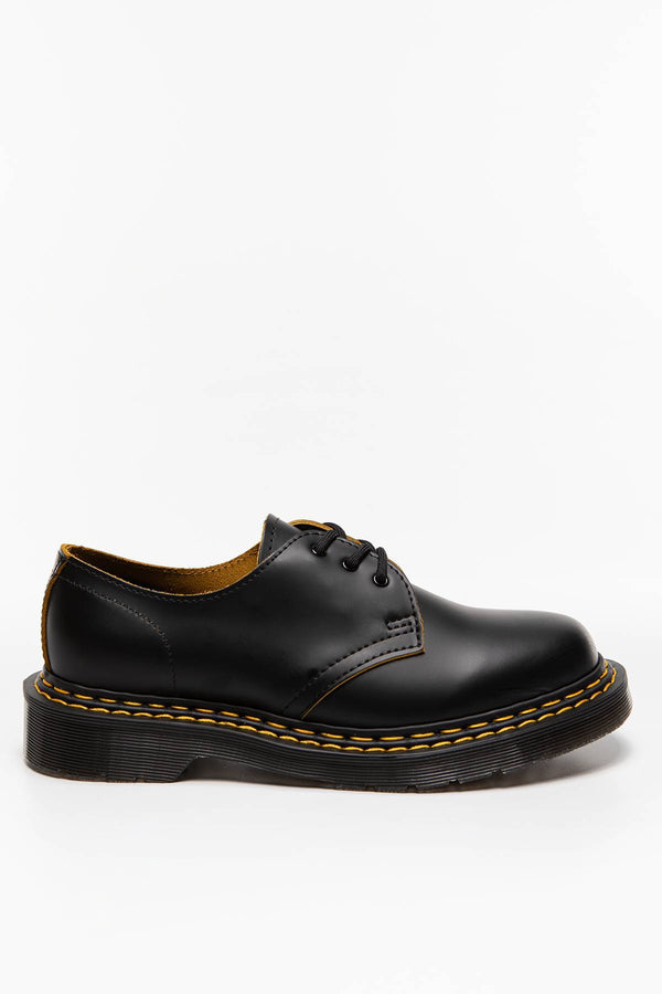 #00004  Dr.Martens Halbschuhe 1461 DS Smooth Slice BLACK/YELLOW
