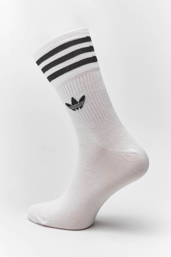 #00076  adidas Socken MID-CUT CREW SOCKS 091 WHITE/BLACK