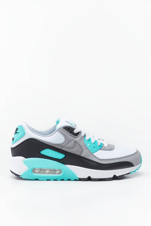 #00055  Nike Sneakers AIR MAX 90 100 WHITE/LIGHT SMOKE/GREY/BLACK/PARTICLE GREY