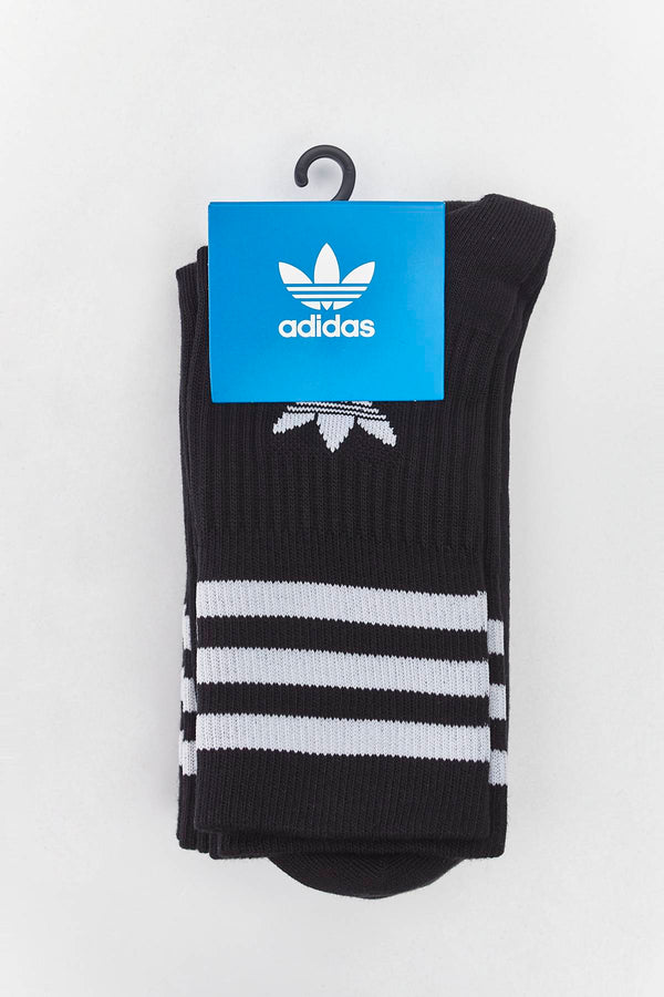 #00057  adidas Socken MID CUT CREW SOCKS 092 BLACK/WHITE