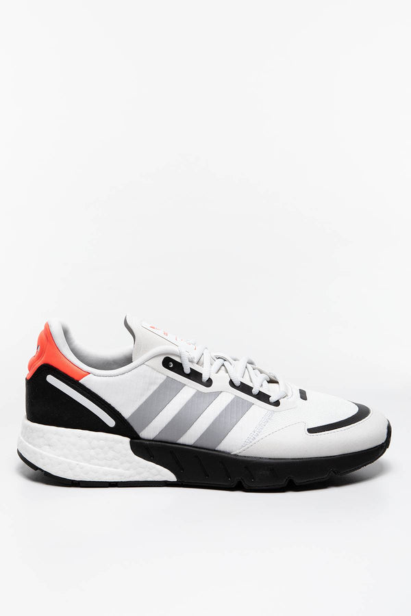 #00145  adidas Sneakers SNEAKERY ZX 1K BOOST FY5648 Crystal White / Silver Metallic / Core Black