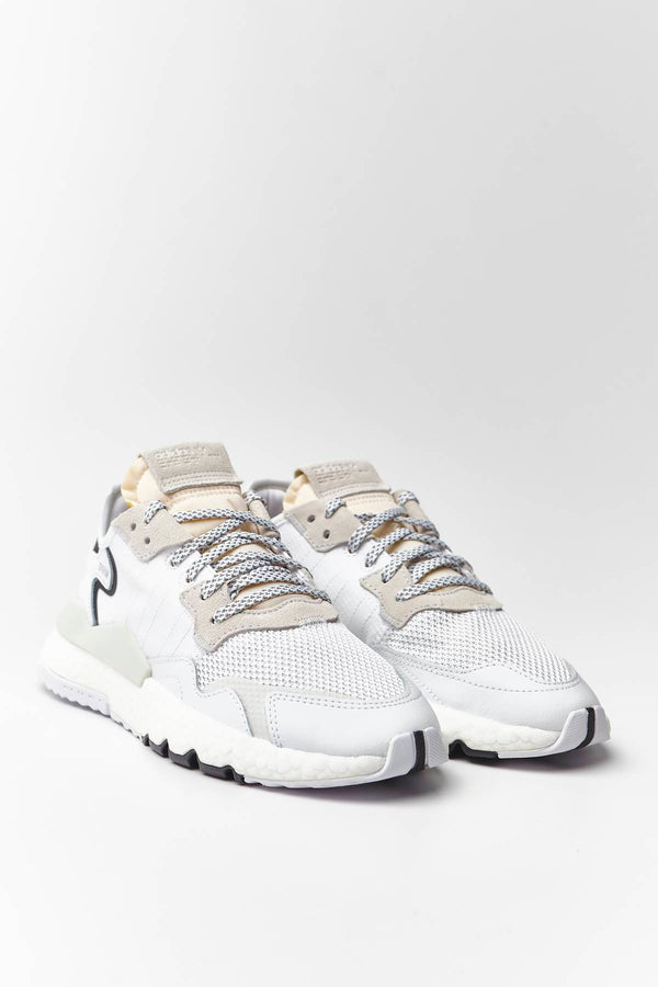 #00024  adidas Sneakers NITE JOGGER J 482 CLOUD WHITE/CLOUD WHITE/CRYSTAL WHITE