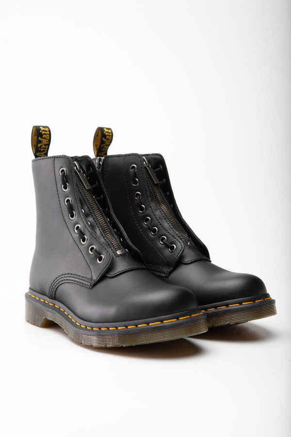 #00058  Dr.Martens High-Top Schuhe 1460 PASCAL FRONT ZIP NAPPA BLACK