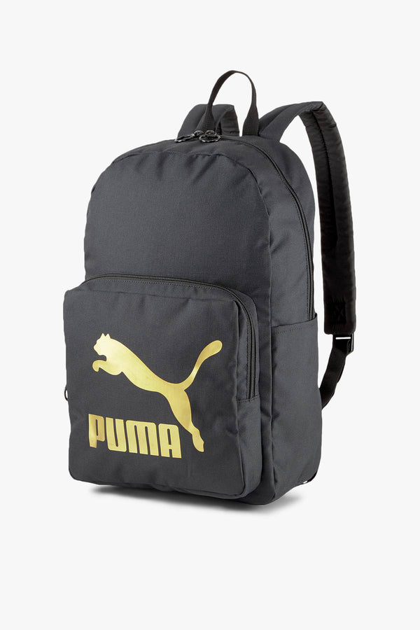 #00004  Puma Rücksack PLECAK Originals Urban Backpack Black-Gold 07800401 BLACK