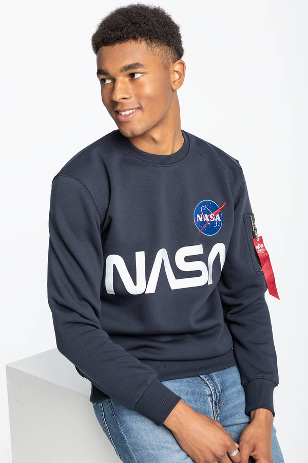 #00004  Alpha Industries Bluse NASA REFLECTIVE SWEATER 07 REP. BLUE