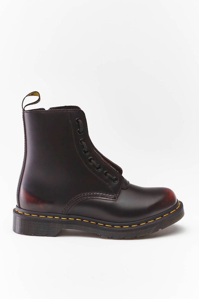 #00078  Dr.Martens High-Top Schuhe 1460 PASCAL FRONT ZIP ARCADIA CHERRY RED