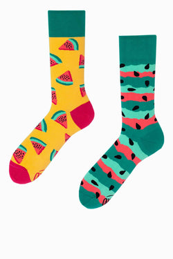 #00046  Many Mornings Socken Watermelon Splash