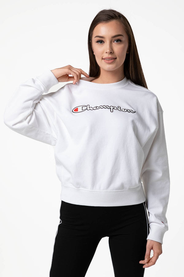 #00028  Champion Bluse CREWNECK SWEATSHIRT WW001 WHITE