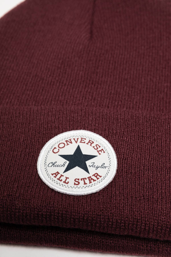 #00188  Converse Mütze 10019012-A04 Tall Chuck Patch Beanie DARK BURGUNDY