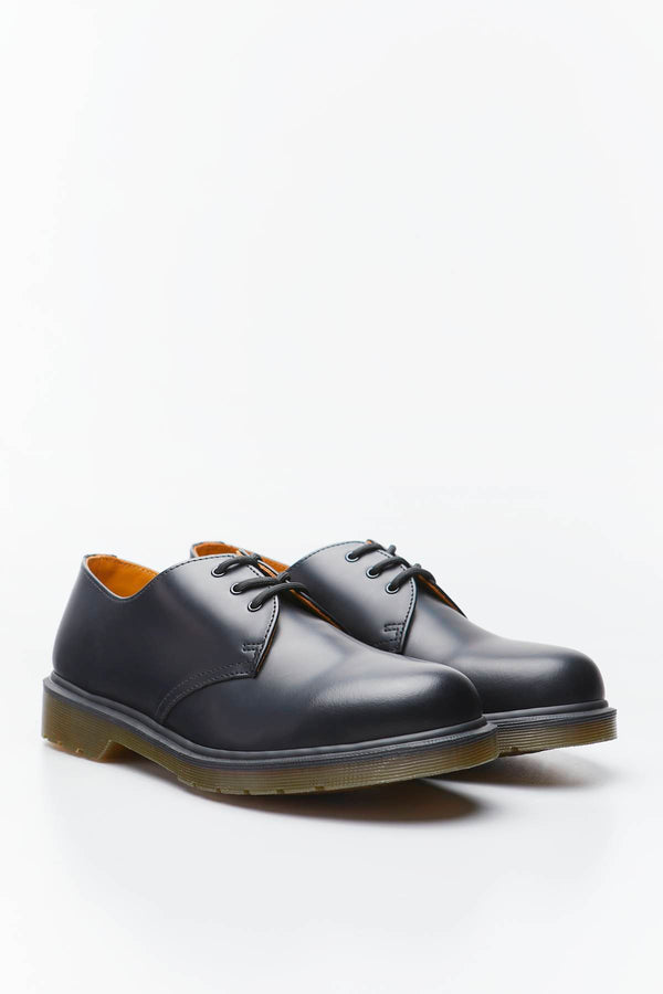 #00016  Dr.Martens Halbschuhe 1461 PLAIN WELT SMOOTH LEATHER OXFORD SHOES BLACK