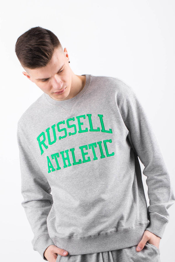 #00015  Russell Athletic Bluse CREW NECK SWEATSHIRT 091 NEW GREY MARL