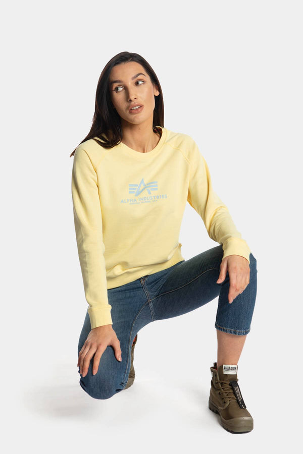#00060  Alpha Industries Bluse NEW BASIC SWEATER WMN 495 PASTEL YELLOW